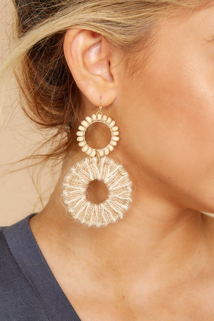 1 Ready Set Shine Natural Fringe Earrings at reddressboutique.com