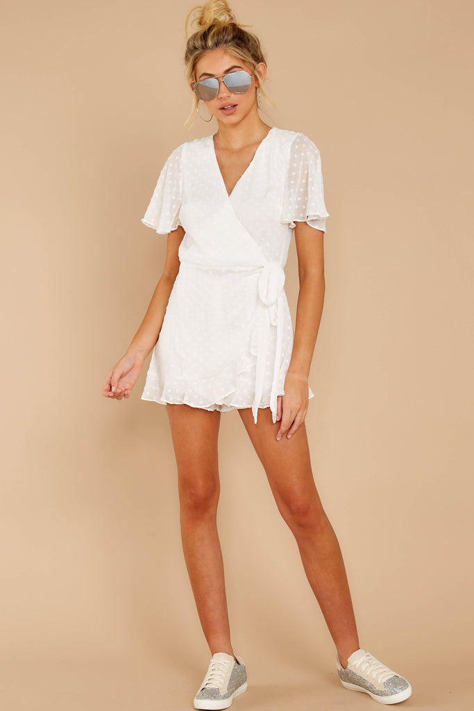 3 Harbor Hopper White Romper at reddressboutique.com