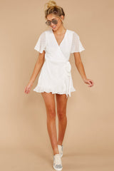 2 Carry Me Away White Romper at reddressboutique.com