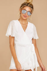 4 Carry Me Away White Romper at reddressboutique.com