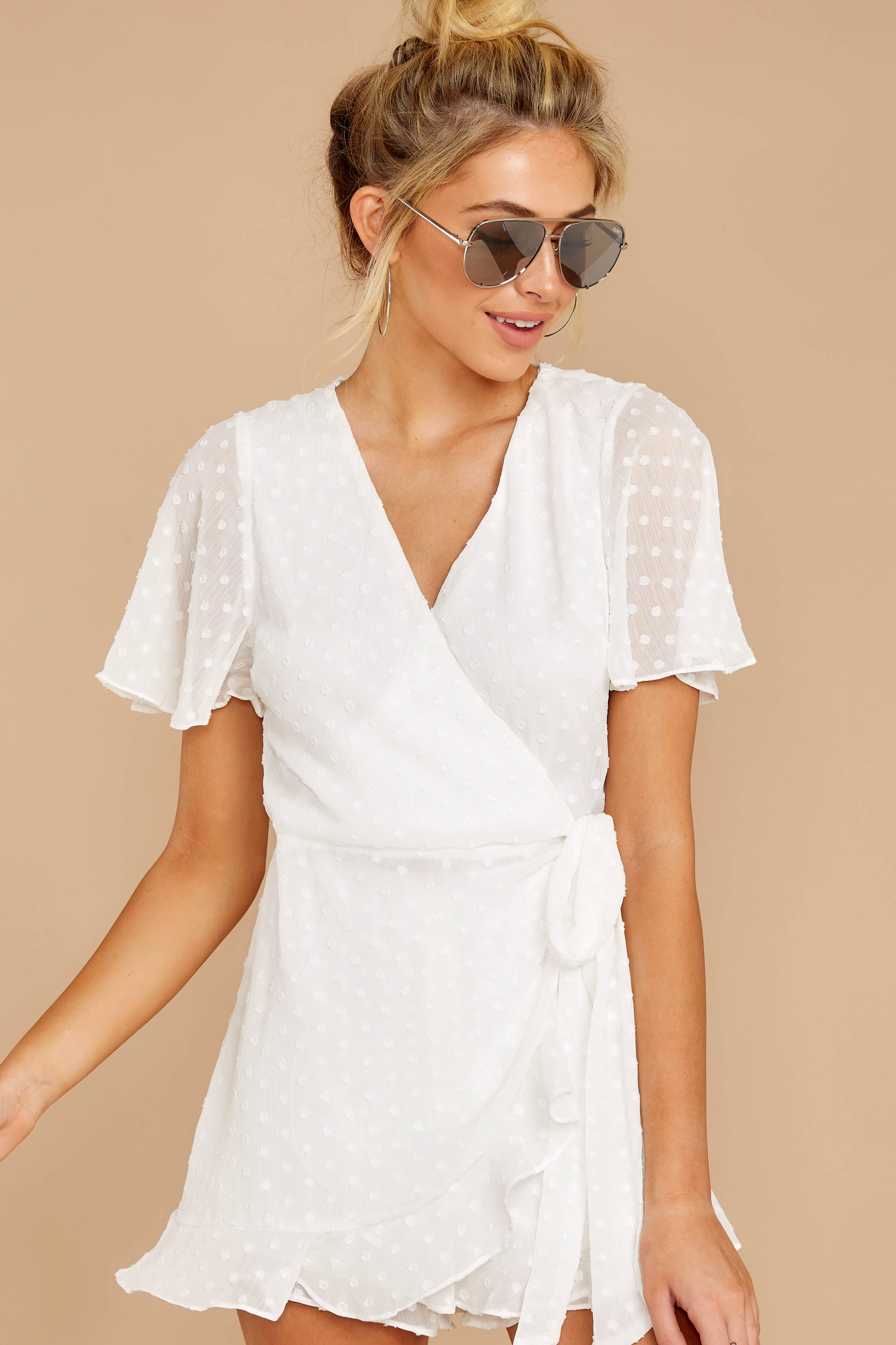 5 Carry Me Away White Romper at reddressboutique.com