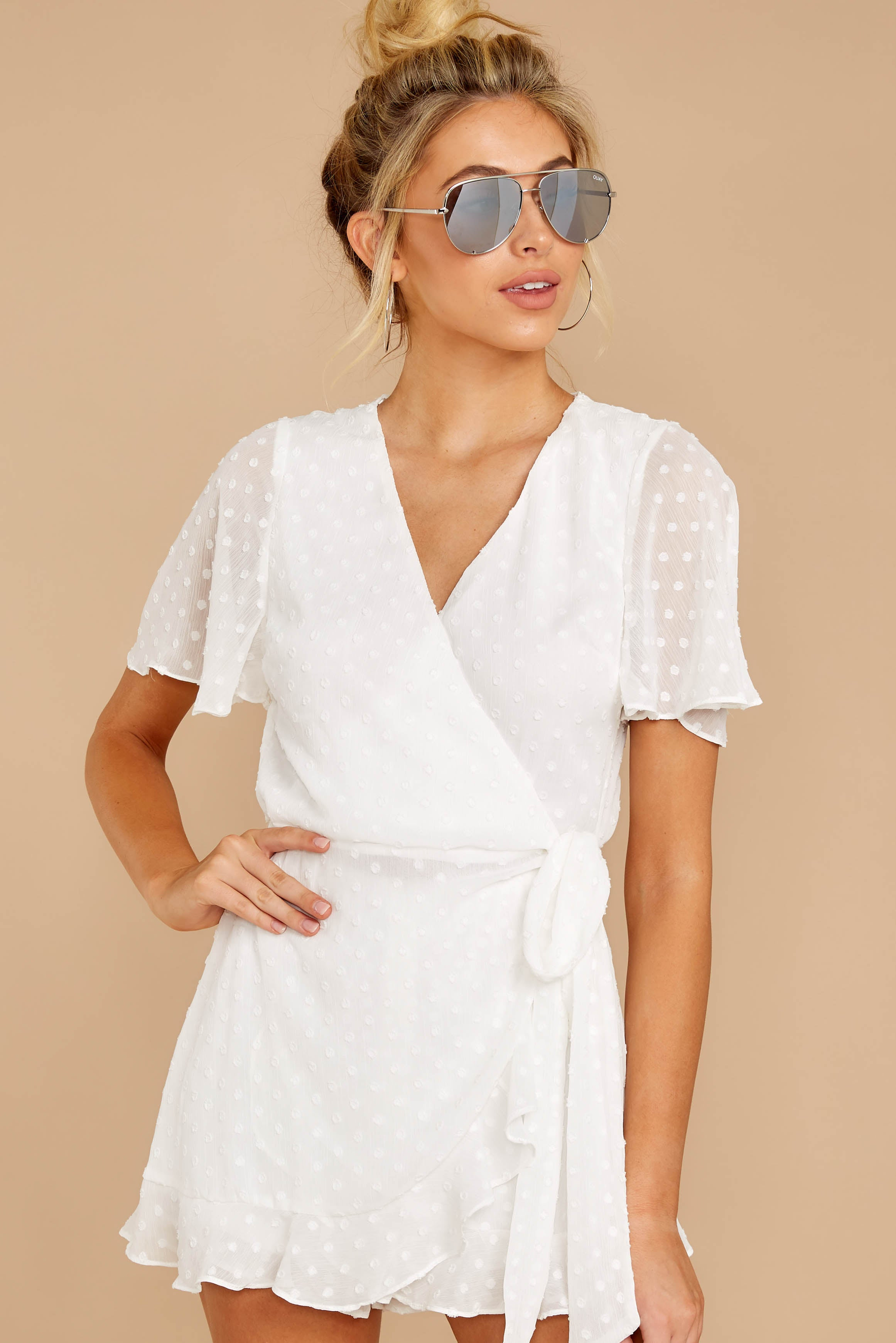 6 Carry Me Away White Romper at reddressboutique.com