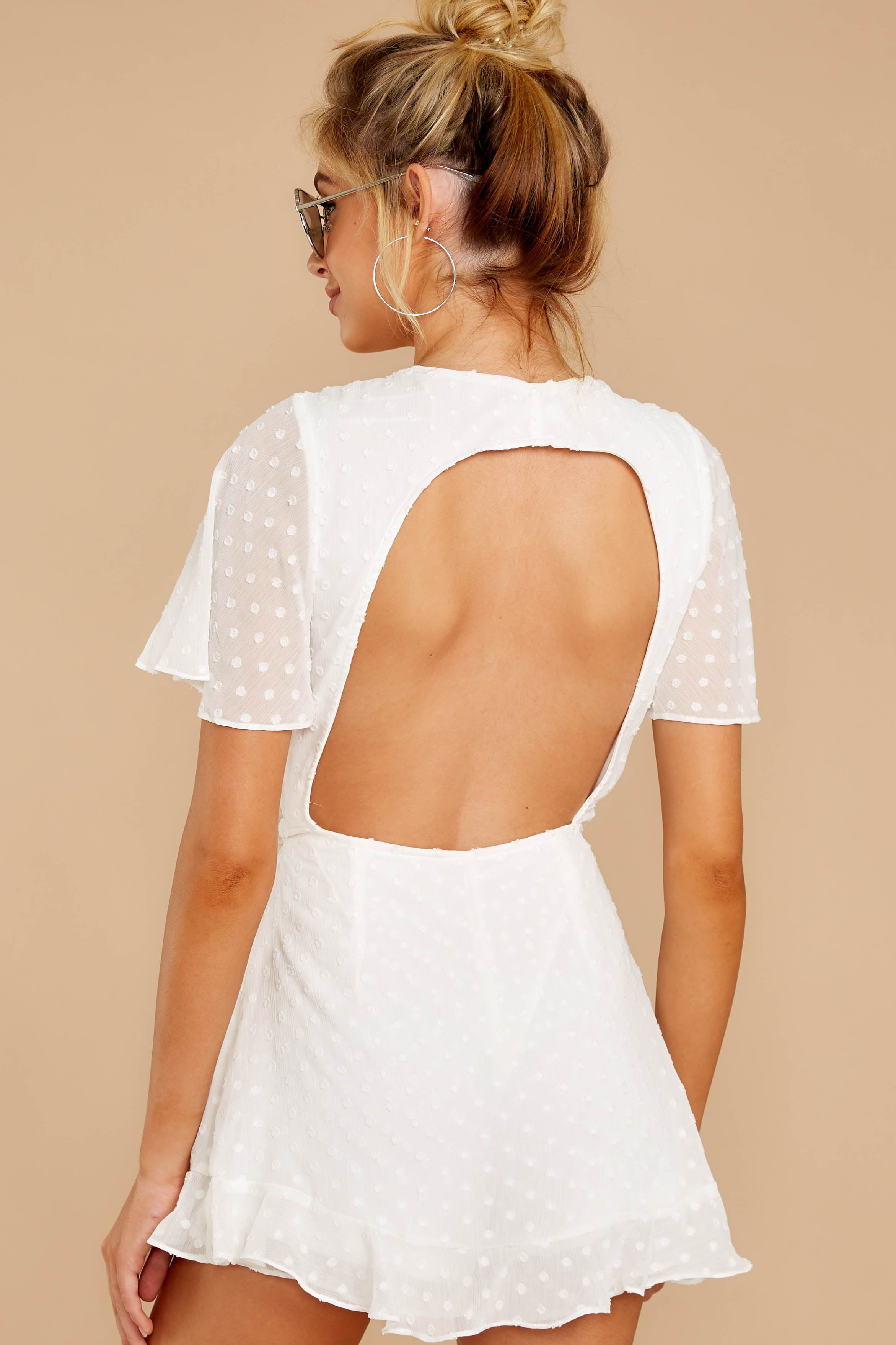 7 Carry Me Away White Romper at reddressboutique.com