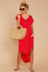 1 Define Comfort Red Maxi Dress at reddressboutique.com
