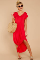2 Define Comfort Red Maxi Dress at reddressboutique.com