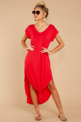 6 Define Comfort Red Maxi Dress at reddressboutique.com