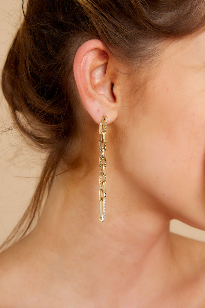 1 Celestial Marble And Gold Earrings at reddress.com