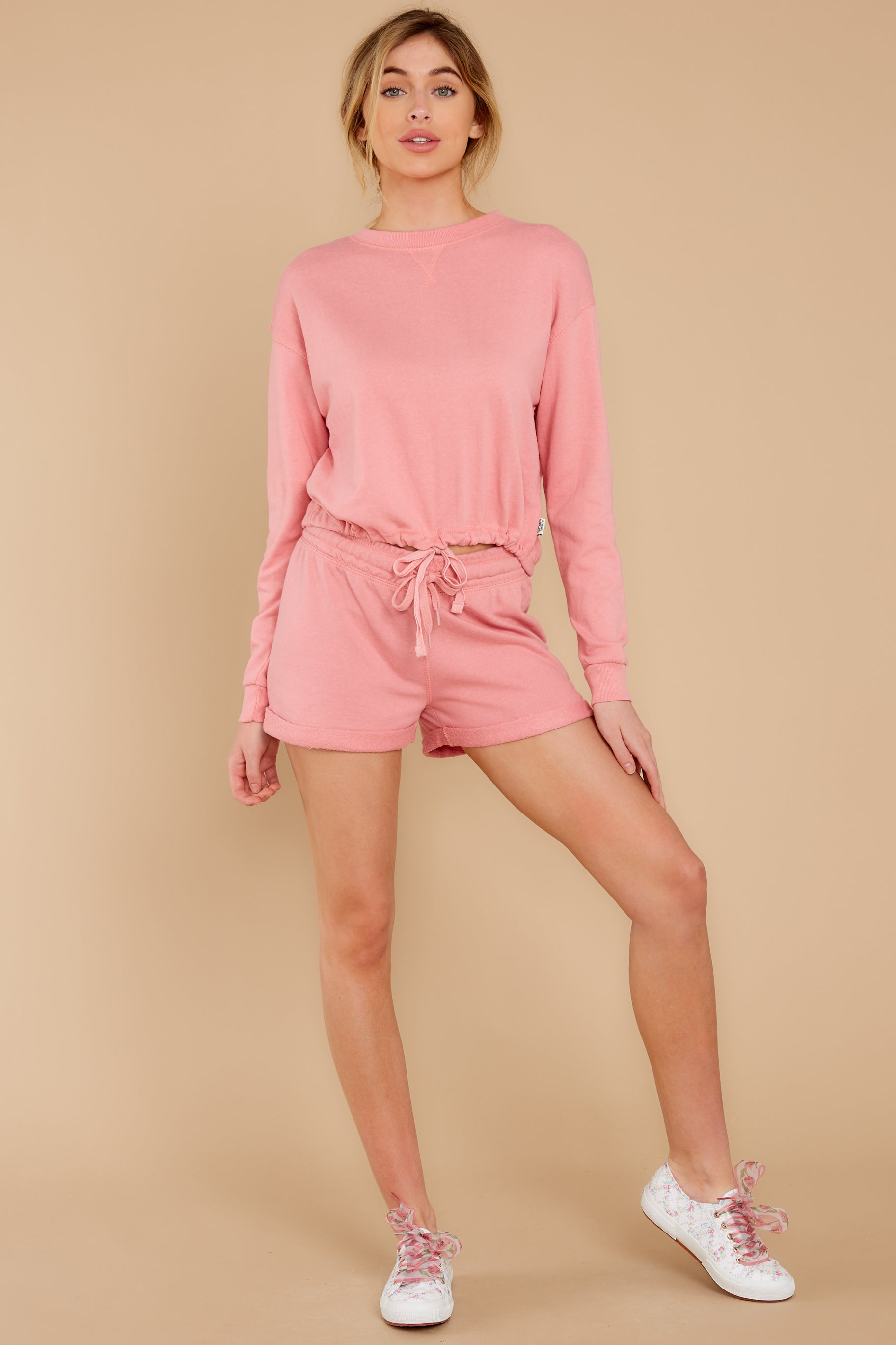 3 Cozy As Can Be Rose Pink Sweatshirt at reddress.com