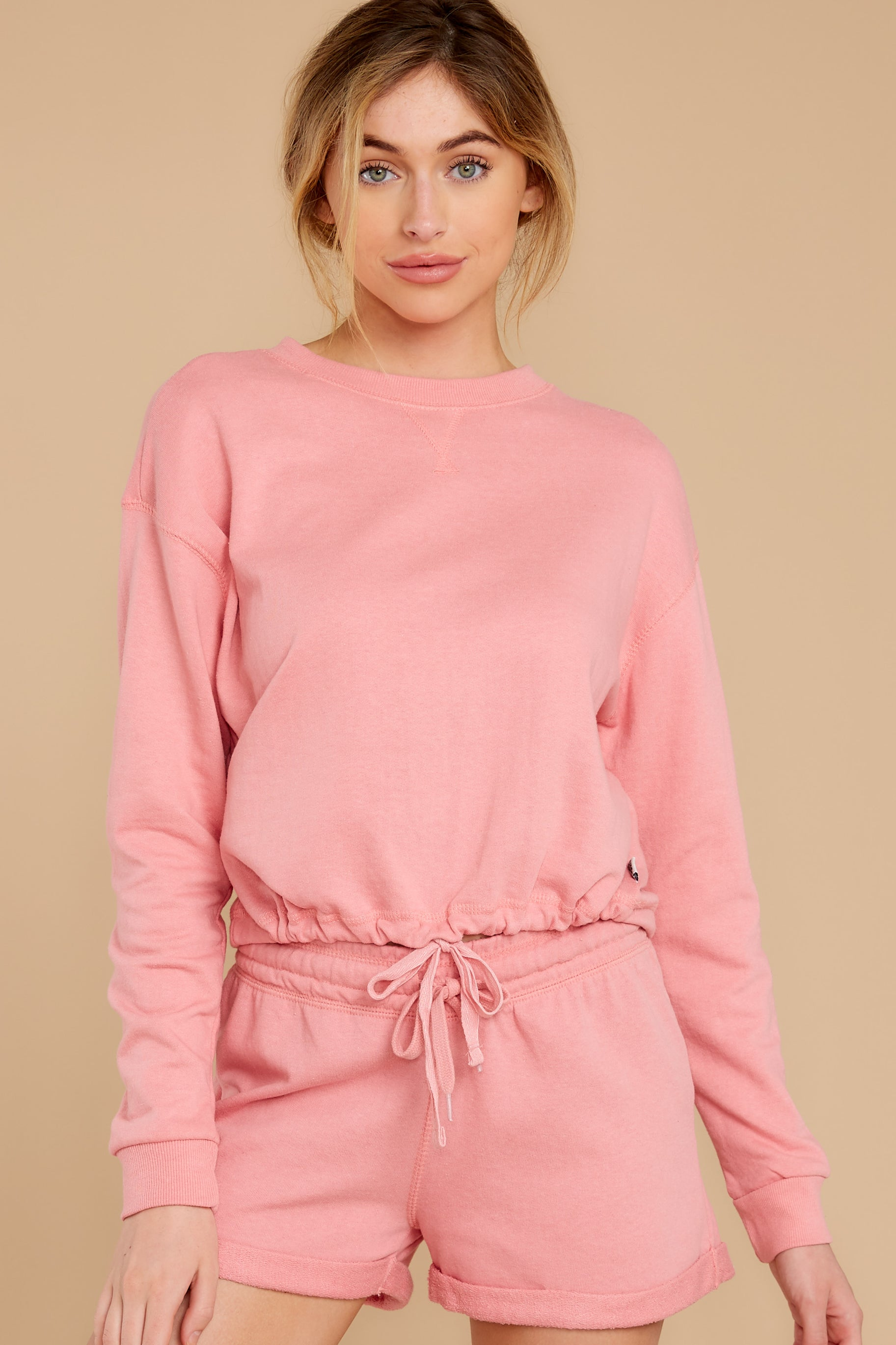 5 Cozy As Can Be Rose Pink Sweatshirt at reddress.com