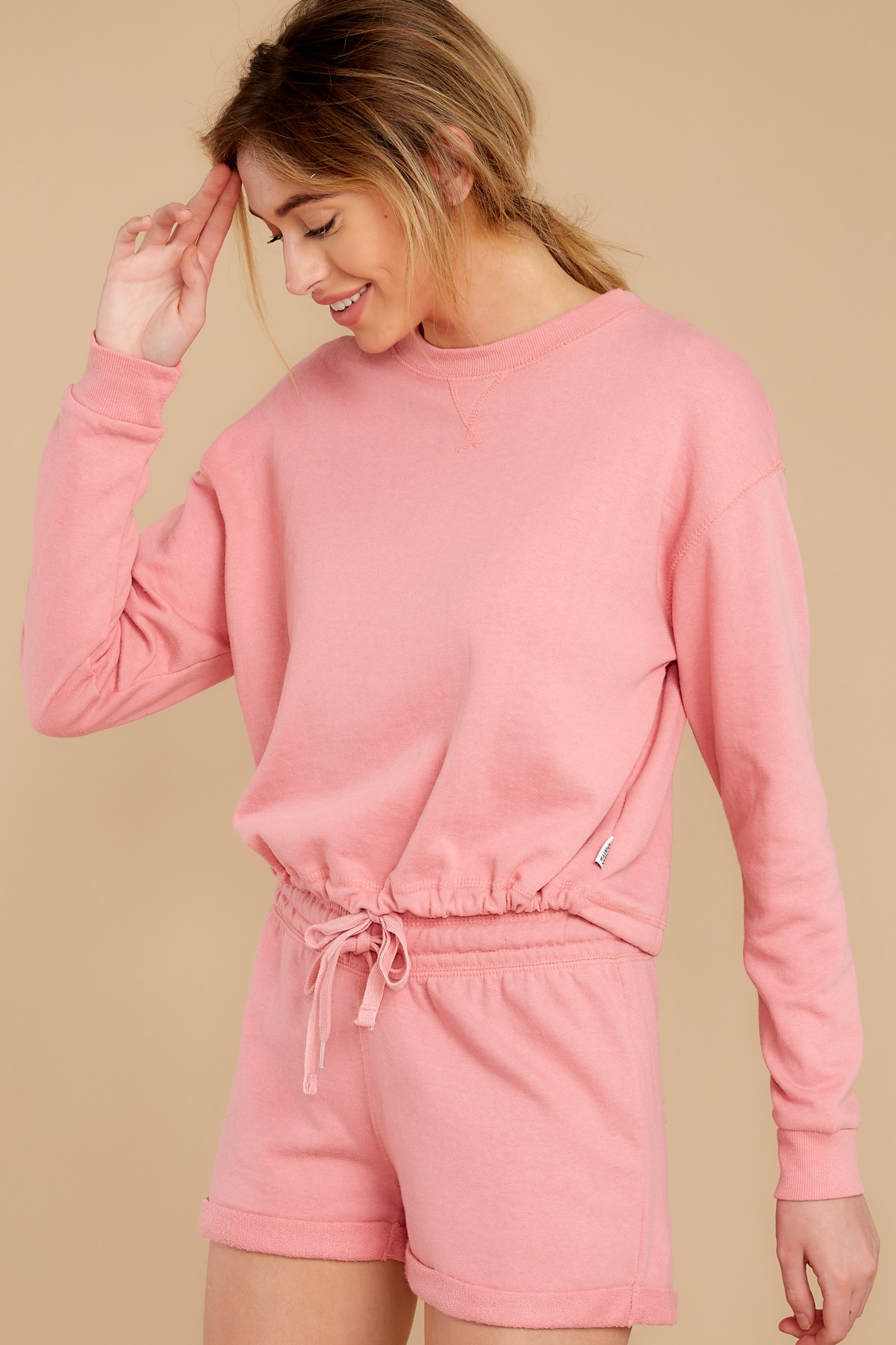 6 Cozy As Can Be Rose Pink Sweatshirt at reddress.com