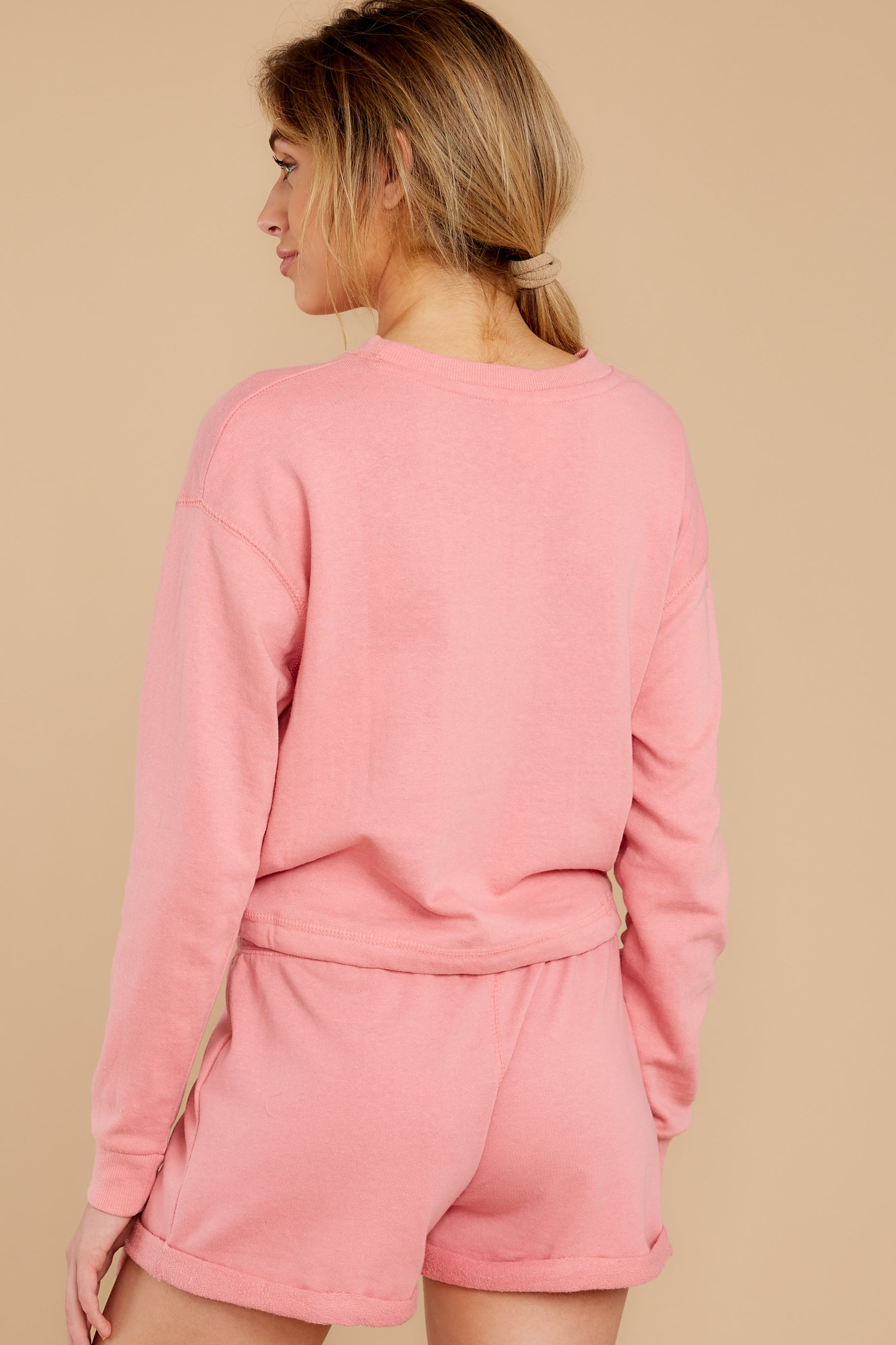 7 Cozy As Can Be Rose Pink Sweatshirt at reddress.com