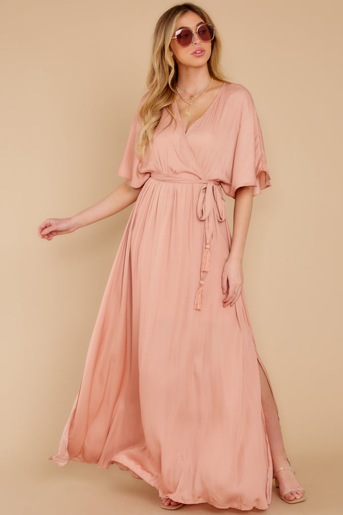 1 Sounds About Right Pink Floral Print Maxi Dress at reddressboutique.com