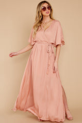 1 Cross My Heart Pink Maxi Dress at reddress.com