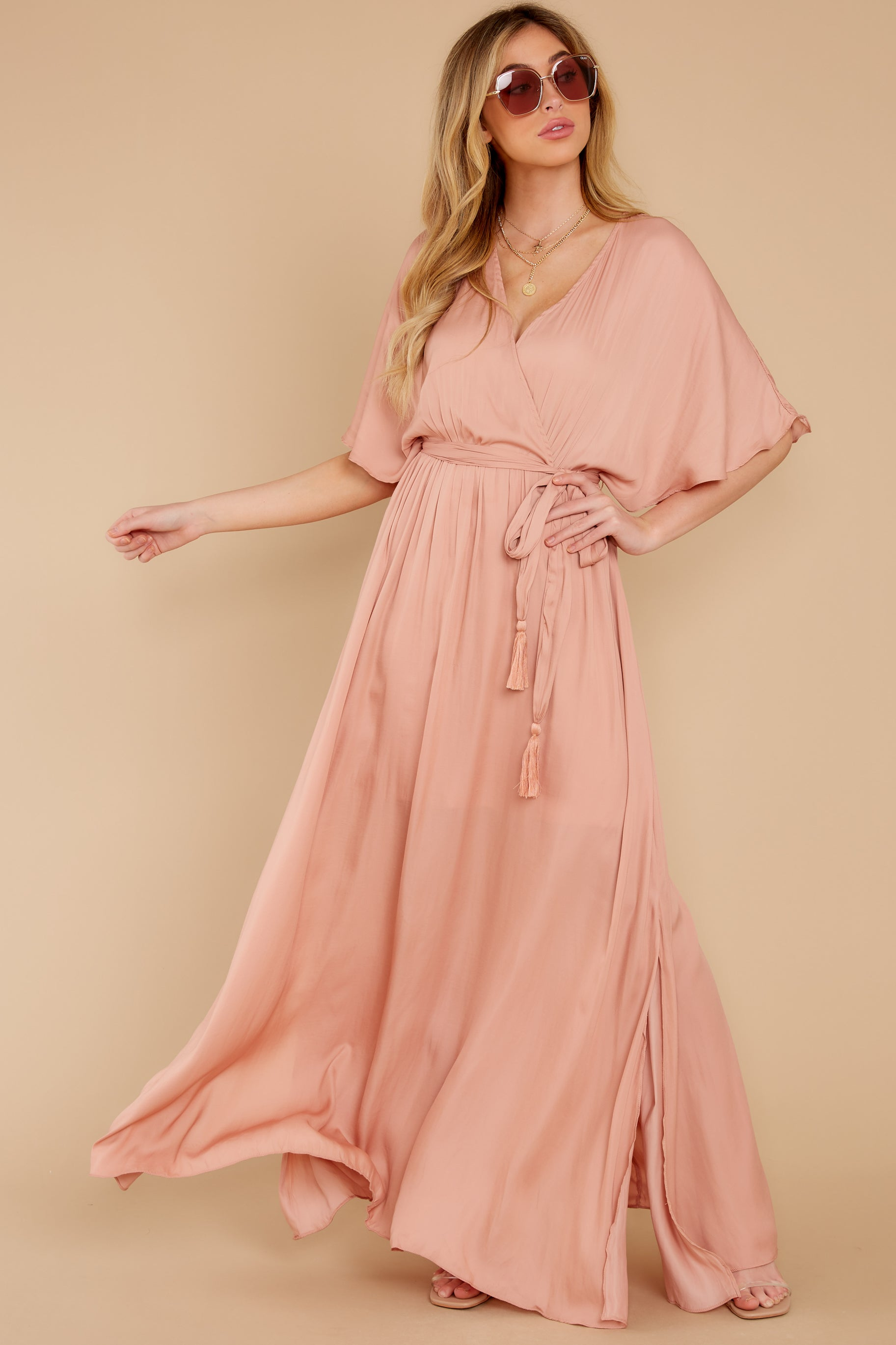 2 Cross My Heart Pink Maxi Dress at reddress.com