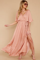 4 Cross My Heart Pink Maxi Dress at reddress.com