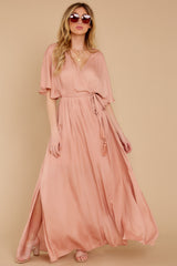 5 Cross My Heart Pink Maxi Dress at reddress.com