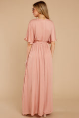 6 Cross My Heart Pink Maxi Dress at reddress.com