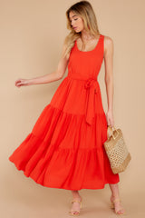 2 Leap Of Faith Red Maxi Dress at reddress.com