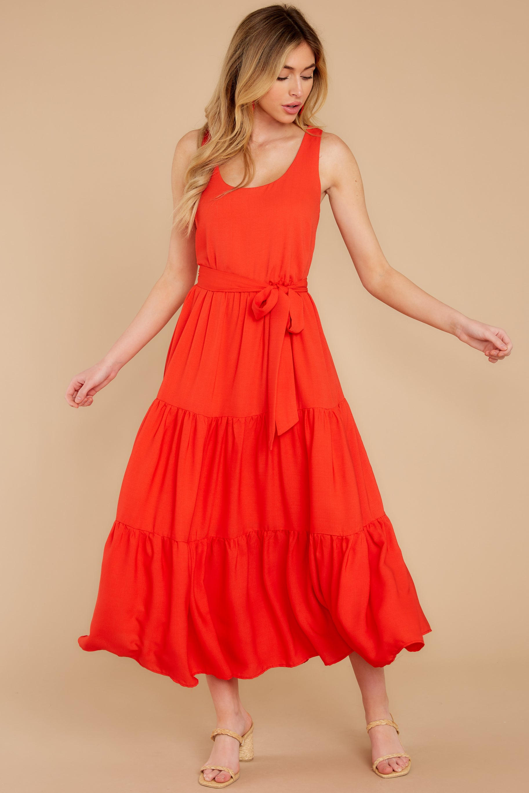 5 Leap Of Faith Red Maxi Dress at reddress.com