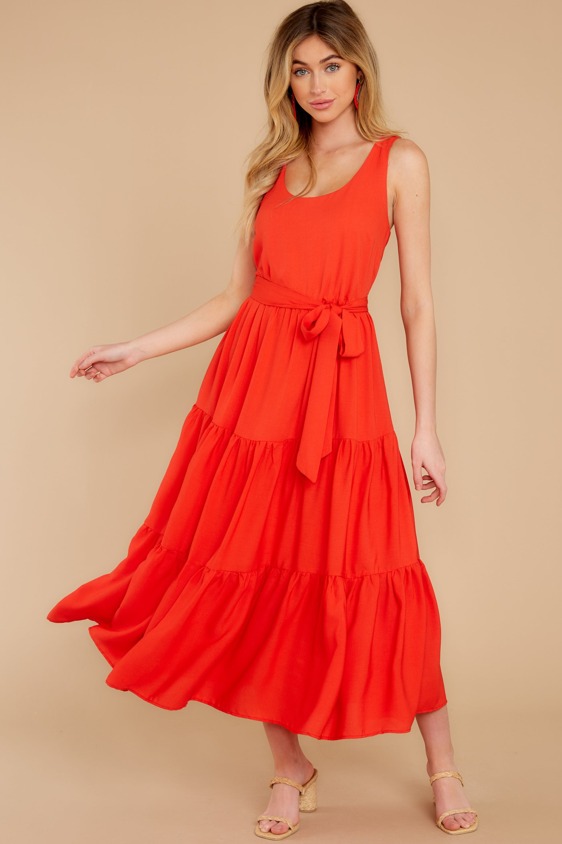 6 Leap Of Faith Red Maxi Dress at reddress.com