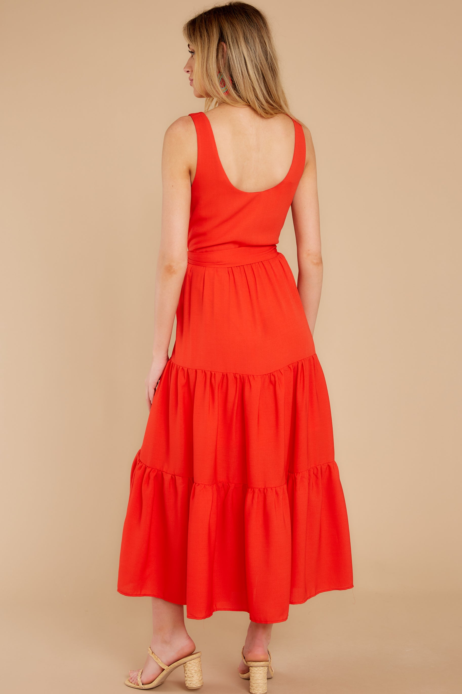 7 Leap Of Faith Red Maxi Dress at reddress.com
