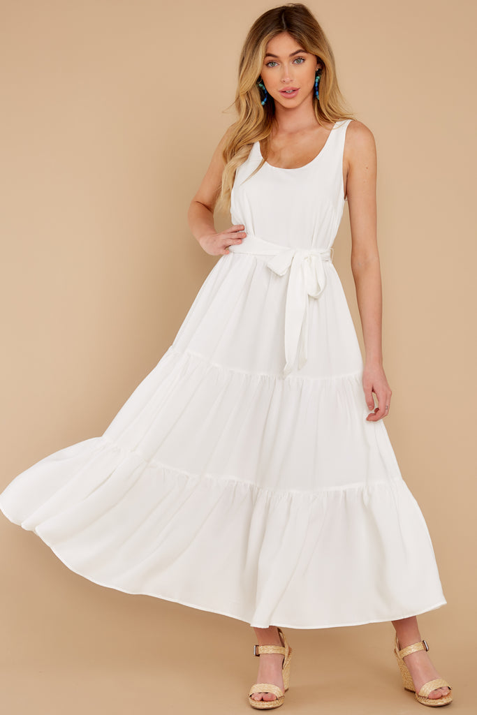 1 Cut To The Chase Off White Dress at reddress.com