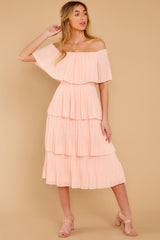 3 See It Happen Blush Pink Midi Dress at reddress.com