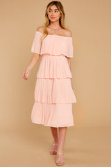 4 See It Happen Blush Pink Midi Dress at reddress.com