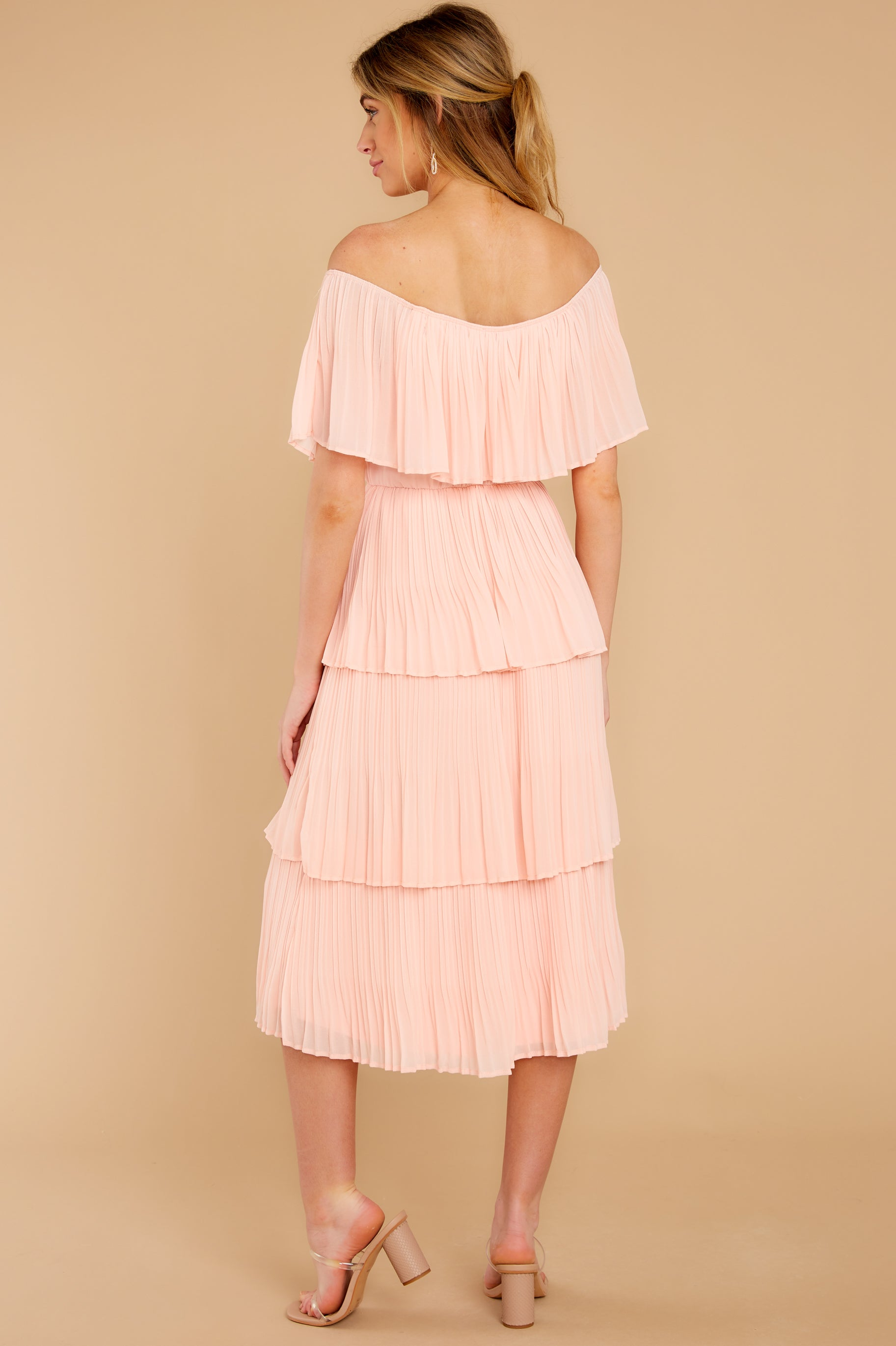 7 See It Happen Blush Pink Midi Dress at reddress.com