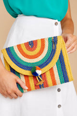 5 Still Feel It Rainbow Clutch at reddressboutique.com