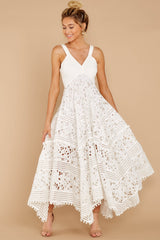 4 Above And Beyond White Maxi Dress at reddressboutique.com