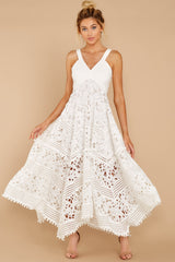 2 Above And Beyond White Maxi Dress at reddressboutique.com