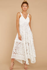 3 Above And Beyond White Maxi Dress at reddressboutique.com
