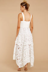 6 Above And Beyond White Maxi Dress at reddressboutique.com