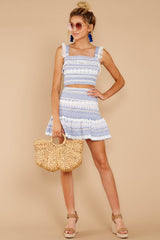 1 Jetty Ready Blue Print Two Piece Set at reddressboutique.com