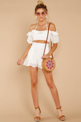 1 You'll Always Have Summer White Eyelet Two Piece Set at reddressboutique.com