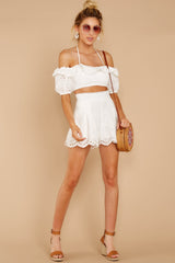 3 You'll Always Have Summer White Eyelet Two Piece Set at reddressboutique.com