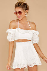 5 You'll Always Have Summer White Eyelet Two Piece Set at reddressboutique.com