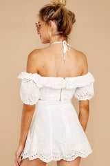 7 You'll Always Have Summer White Eyelet Two Piece Set at reddressboutique.com