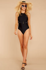 3 Poolside Paradise Black One Piece at reddressboutique.com