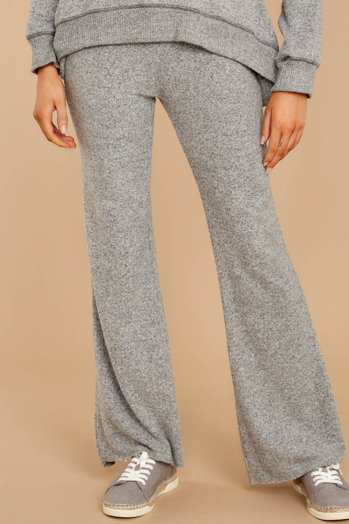 1 Saturday Night Snuggles Grey Joggers at reddressboutique.com