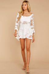 3 Angelic Allusion White Lace Romper at reddressboutique.com