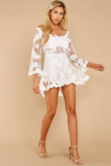 4 Angelic Allusion White Lace Romper at reddressboutique.com