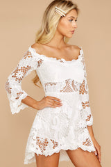 6 Angelic Allusion White Lace Romper at reddressboutique.com