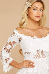 7 Angelic Allusion White Lace Romper at reddressboutique.com