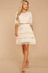 2 Poetic Situation Beige Lace Dress at reddressboutique.com
