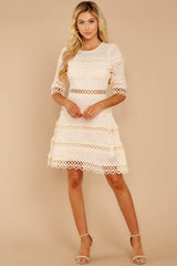 4 Poetic Situation Beige Lace Dress at reddressboutique.com