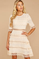 5 Poetic Situation Beige Lace Dress at reddressboutique.com
