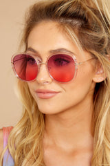 Mod Moments Purple To Rose Pink Sunglasses