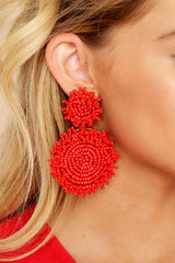 Clarifying Moment Red Earrings